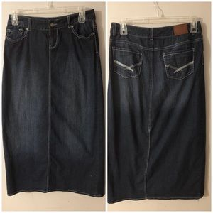 Maurice's 5/6 Long Denim (Jean) Skirt